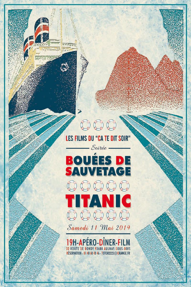 Infographiste Indépendant, création d'affiches de films, cinéma catastrophe en mer