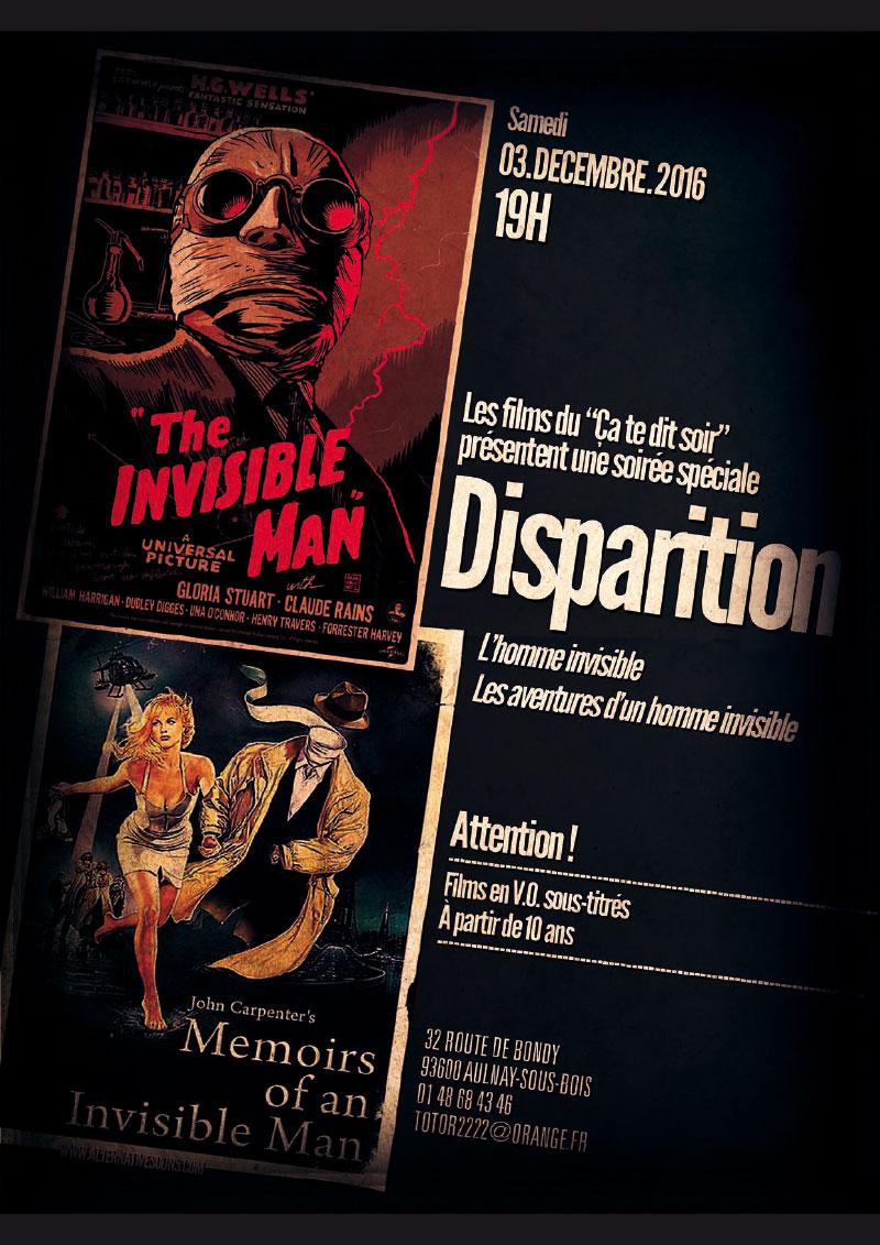 Infographiste Indépendant, création d'affiches de films, spécial homme invisible