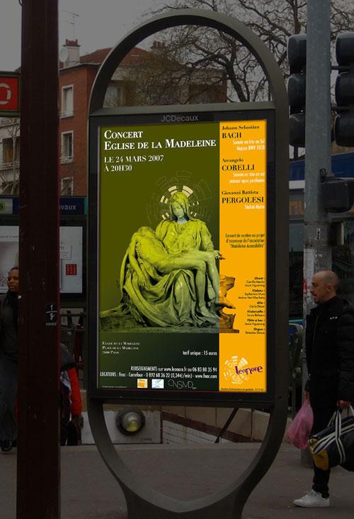 Infographiste indépendant, création d'affiche de musique classique
