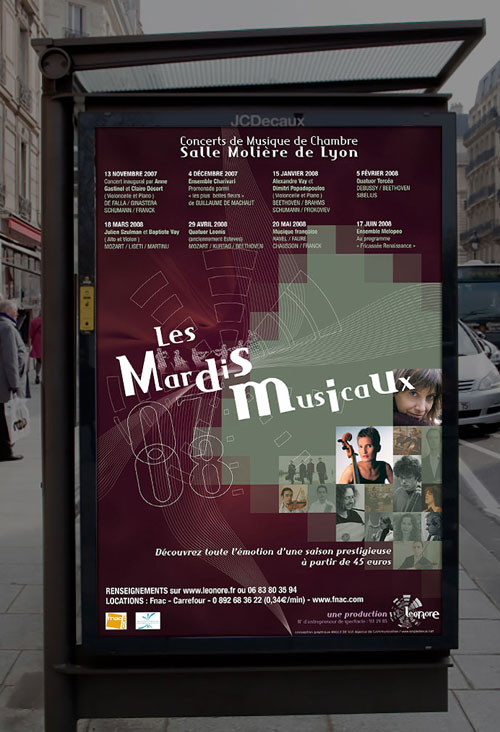 Infographiste indépendant, création d'affiche de musique de concert classique