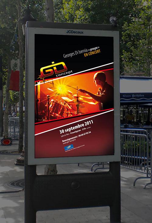 Infographiste indépendant, création d'affiches de musique concert de jazz