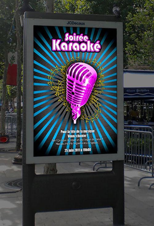 Infographiste indépendant, création d'affiche de musique karaoké