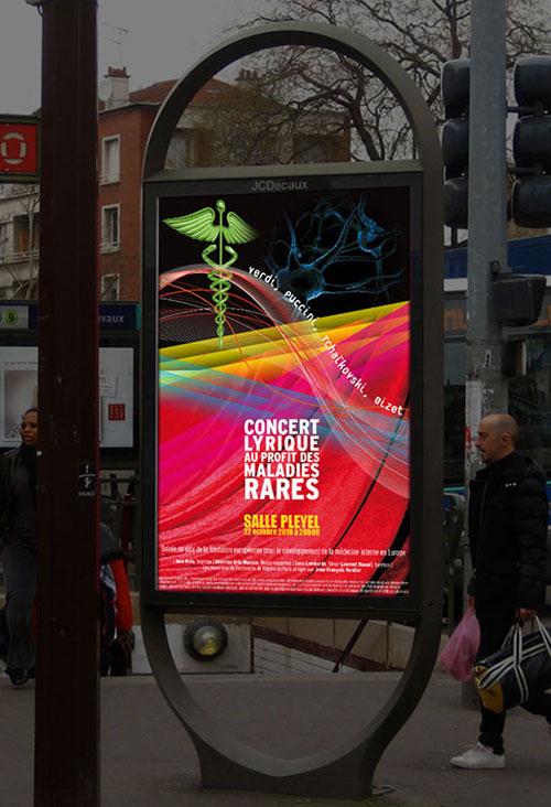 Infographiste indépendant, création d'affiche de musique lyrique
