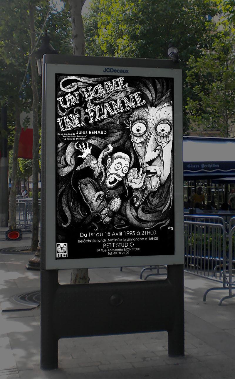 Infographiste indépendant, création d'affiches de pièce de théâtre