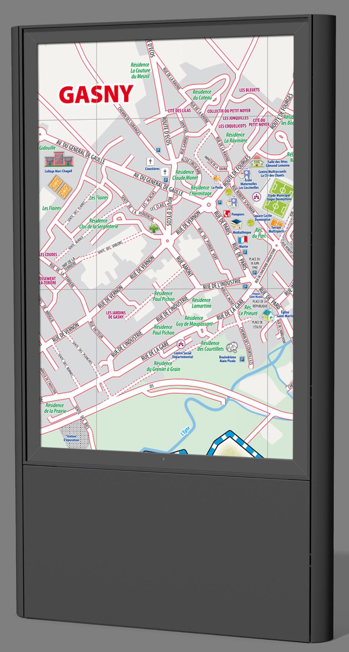 Infographiste indépendant, création et mise en page de cartographies et infographies, plan de centre ville