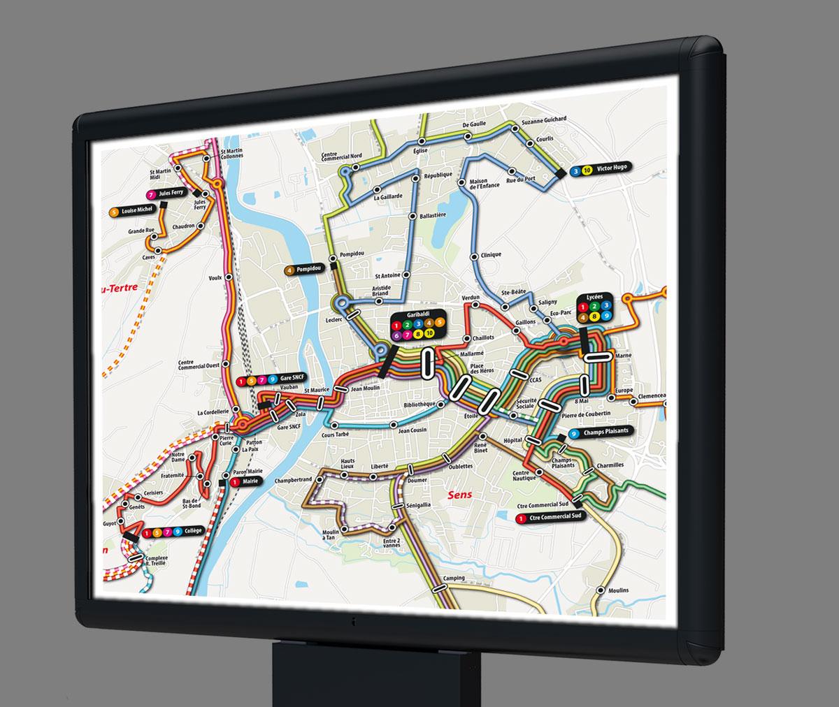 Infographiste indépendant, création et mise en page de cartographies et infographies, trajets de bus