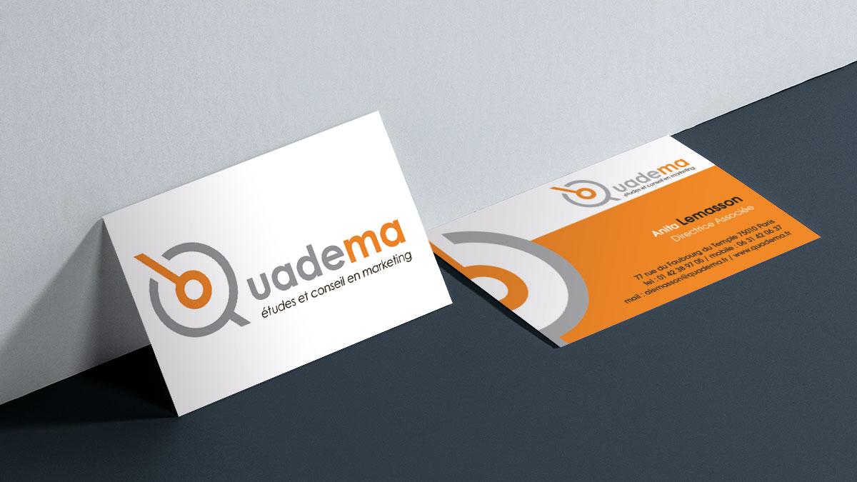 Infographiste indépendant, création de charte graphique, logo et carte de visite cabinet d'étude qualitativer