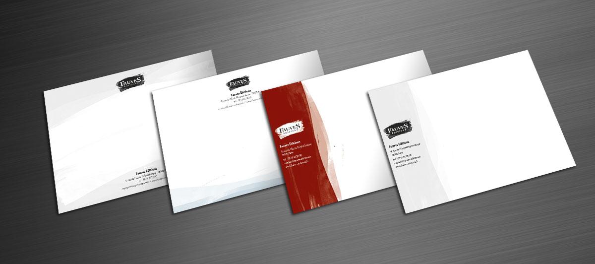 Infographiste indépendant, création de charte graphique, carte de correspondance maison d'édition