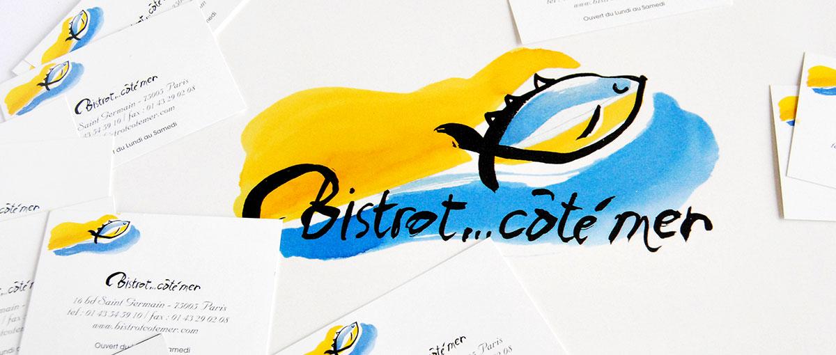 Infographiste indépendant, création de charte graphique pour restaurant de poissons