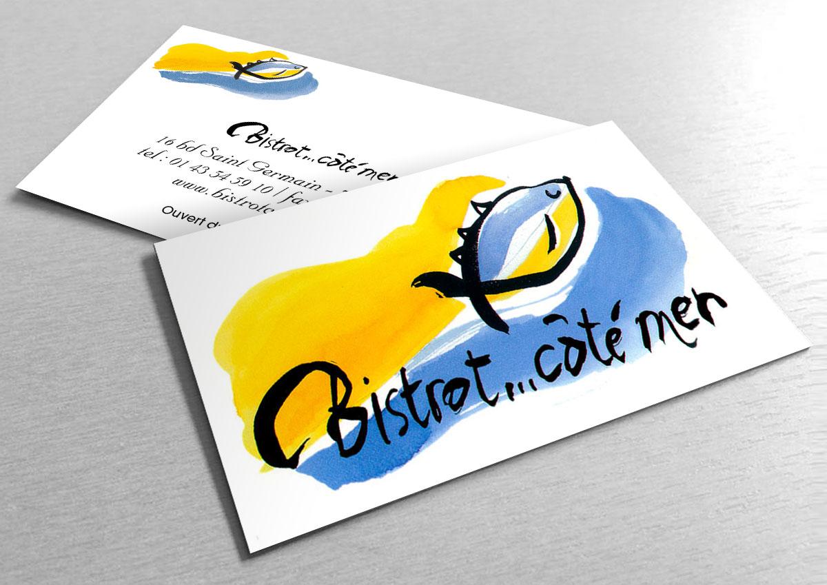 Infographiste indépendant, création de charte graphique pour restaurant, logo et carte de visite