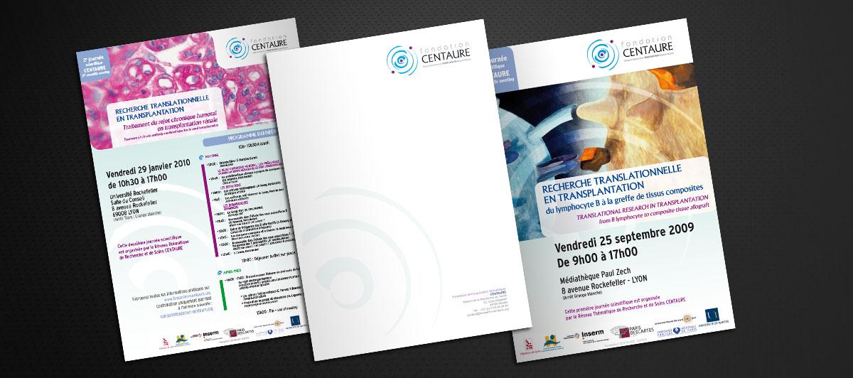 Infographiste indépendant, création de charte graphique, tête de lettre fondation scientifique