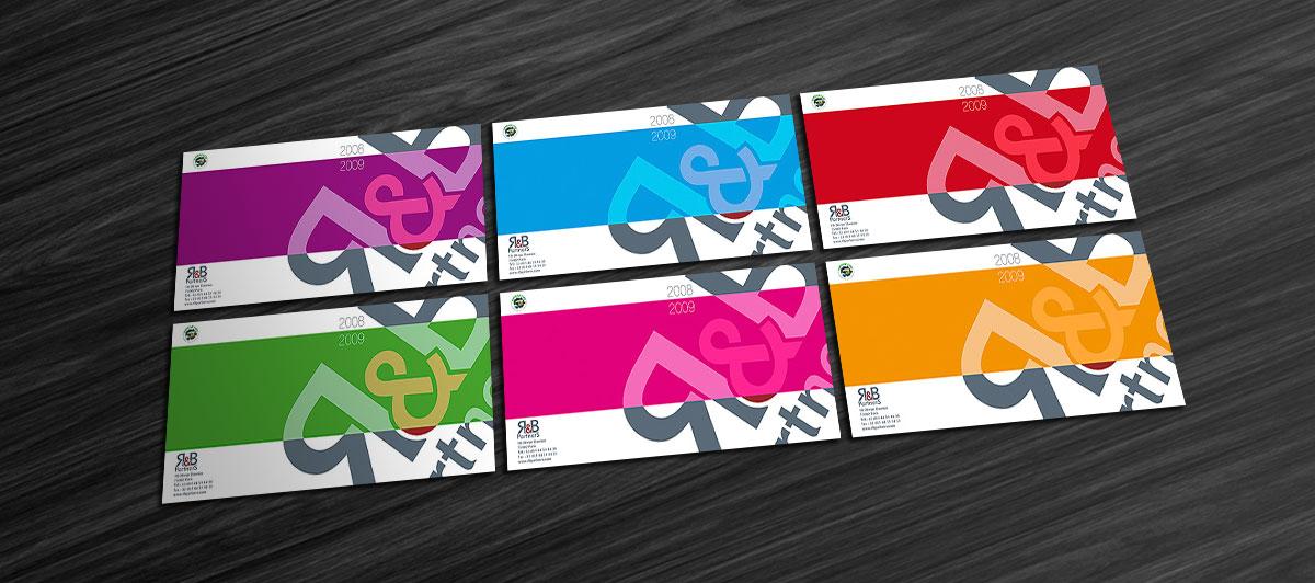 Infographiste indépendant, création et mise en page de carte de vœux agence de communication