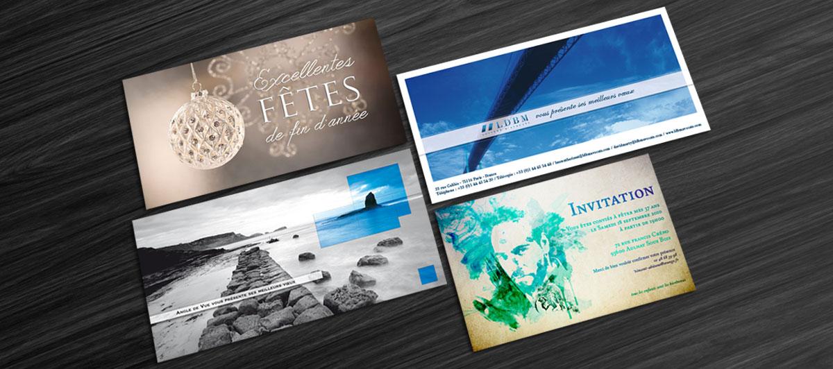 Infographiste indépendant, création et mise en page de carte de vœux et invitation