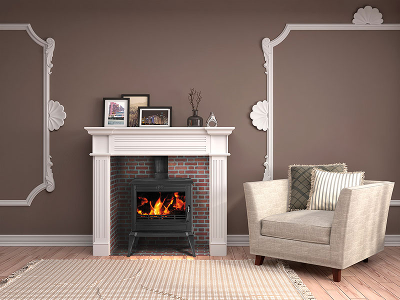 Infographiste indépendant, création graphique photomontage cheminée à bois