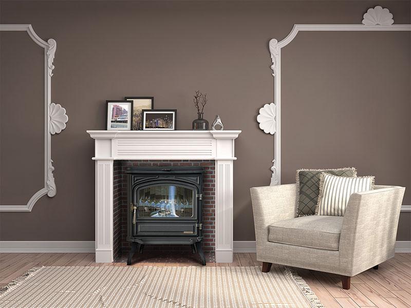 Infographiste indépendant, création graphique photomontage installation de cheminée