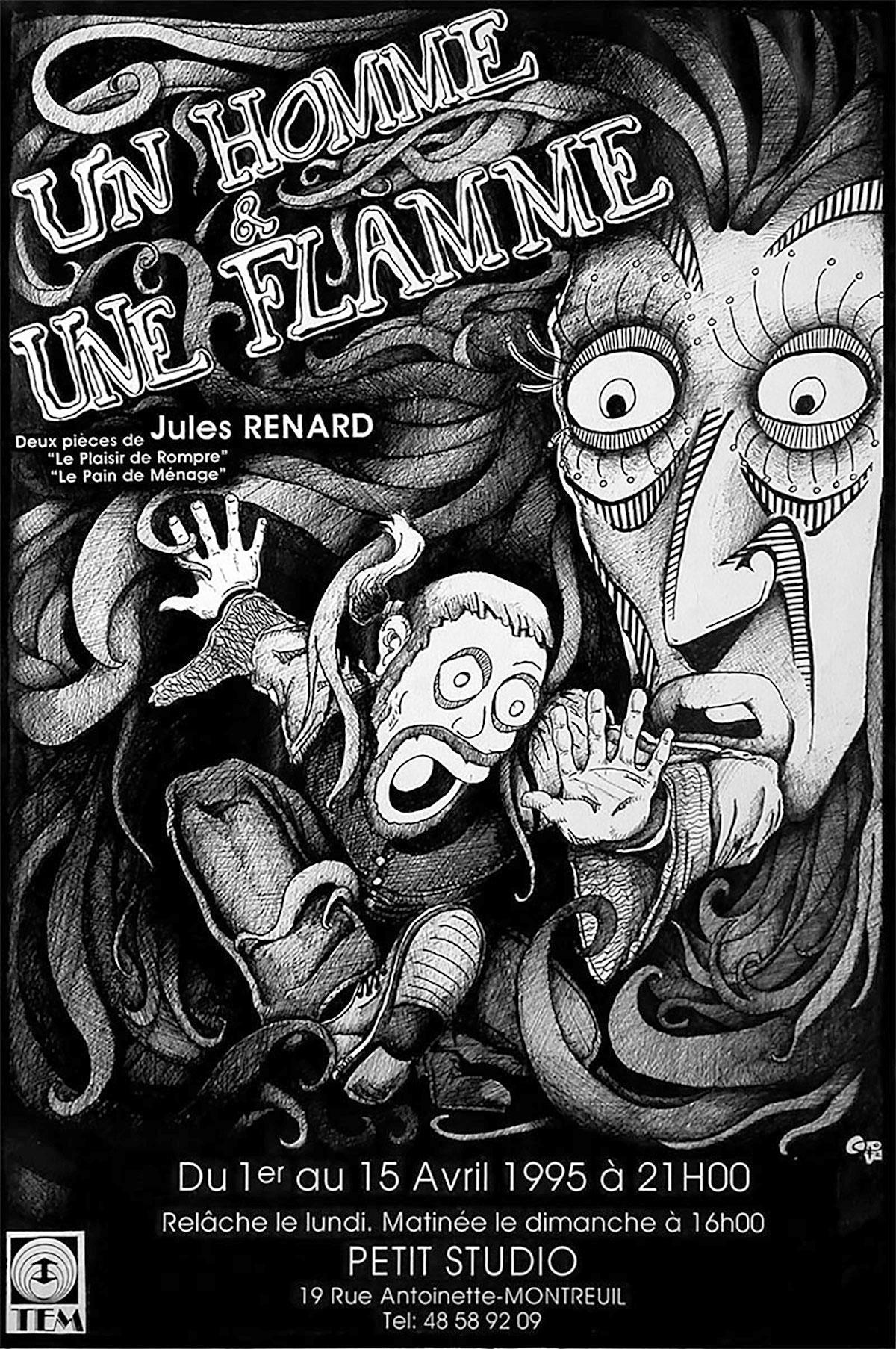 Infographiste indépendant, création d'illustrations, dessin pour affiches de théâtre