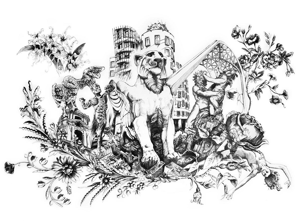 Infographiste indépendant, création d'illustrations, dessin architecture biologique 3