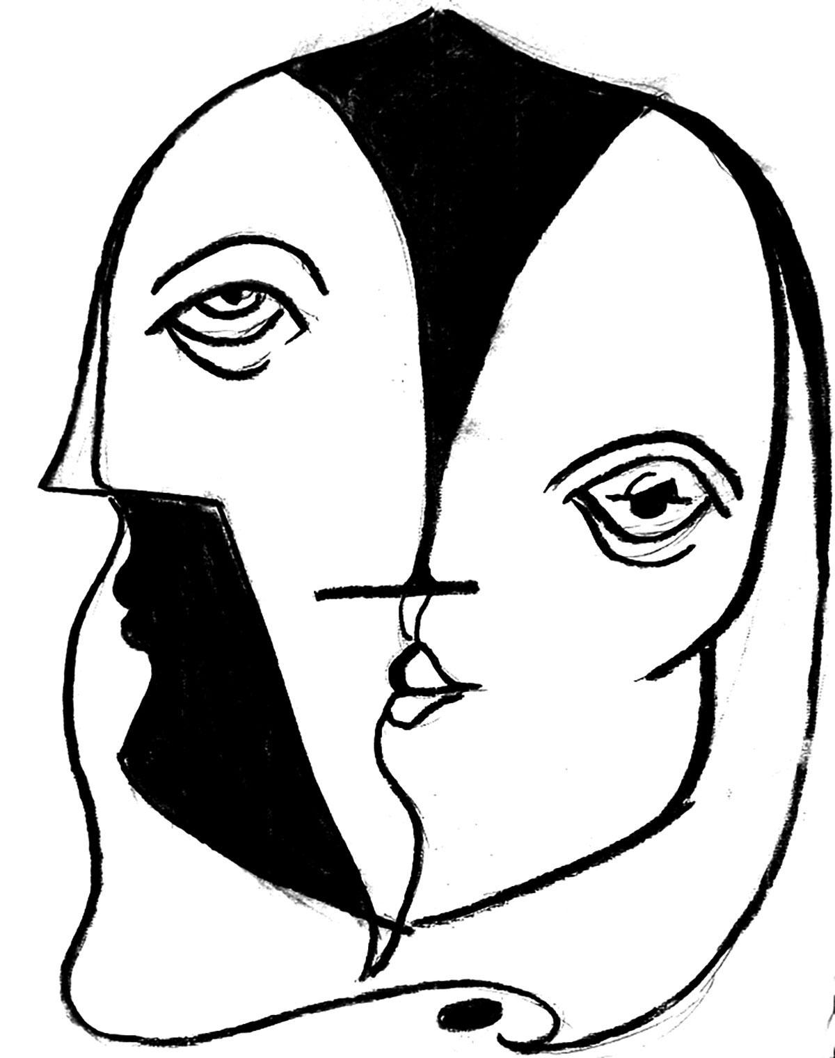 Infographiste indépendant, création d'illustrations, dessin double face