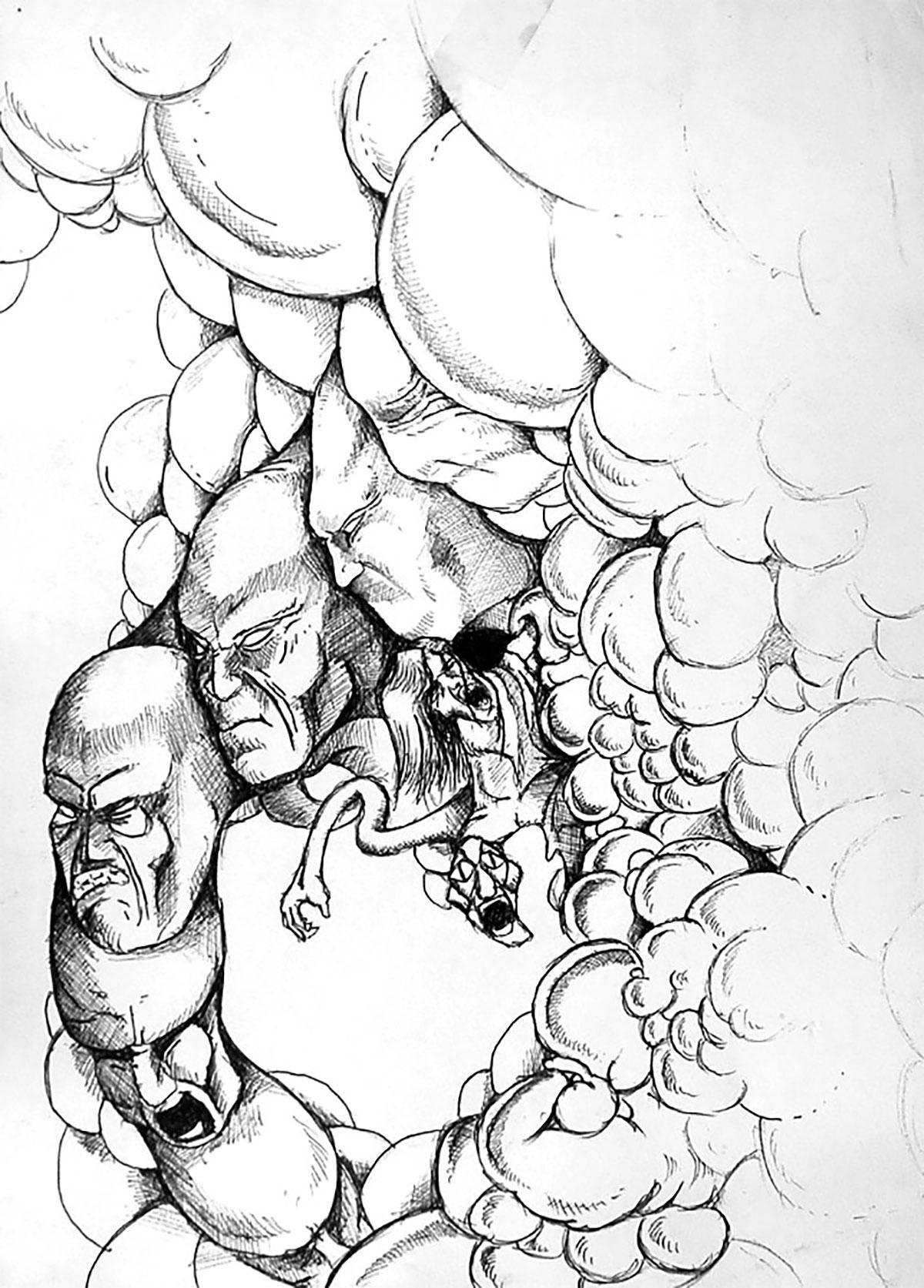 Infographiste indépendant, création d'illustrations, dessin de monstre