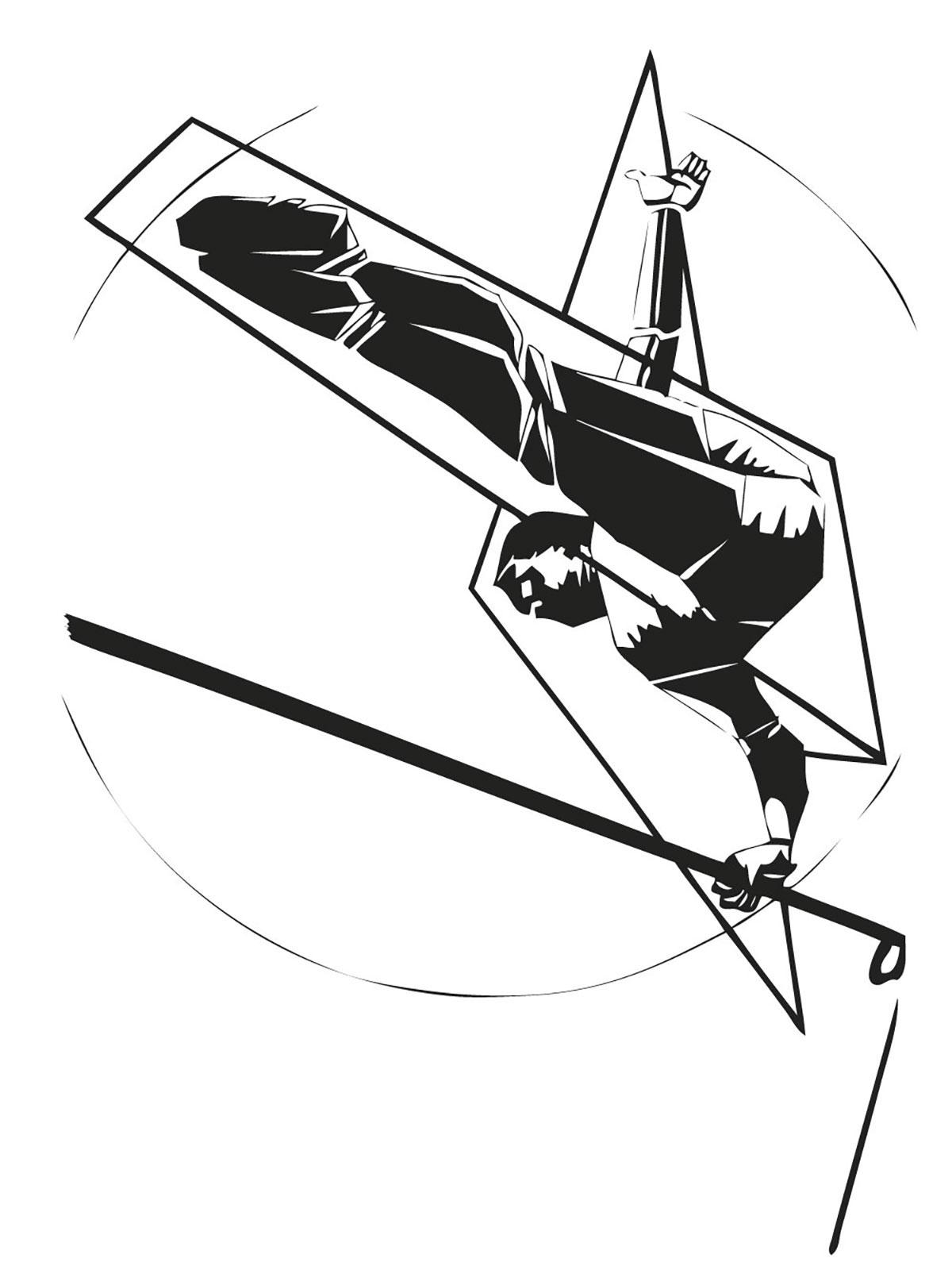 Infographiste indépendant, création d'illustrations, dessin sur la dynamique sportive