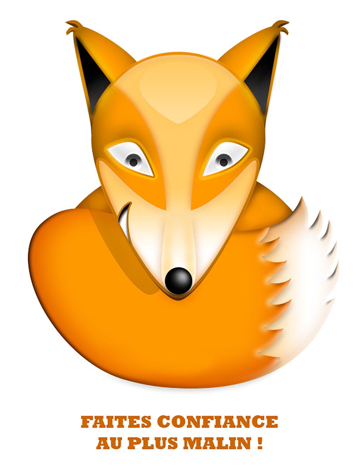Infographiste indépendant, création d'illustrations de renard