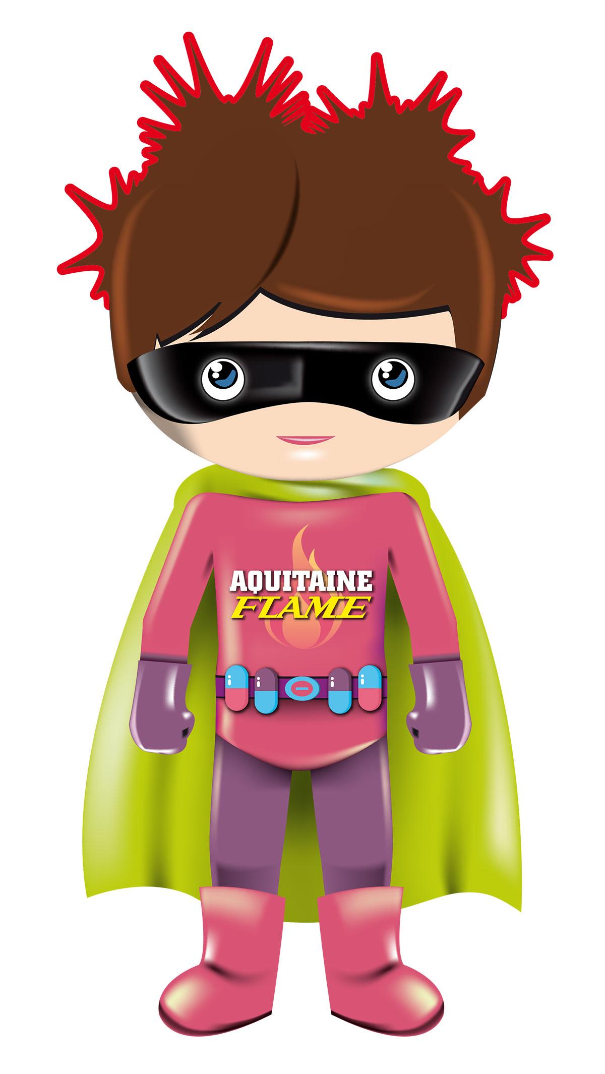 Infographiste indépendant, création d'illustrations jeunesse, vector super-heros