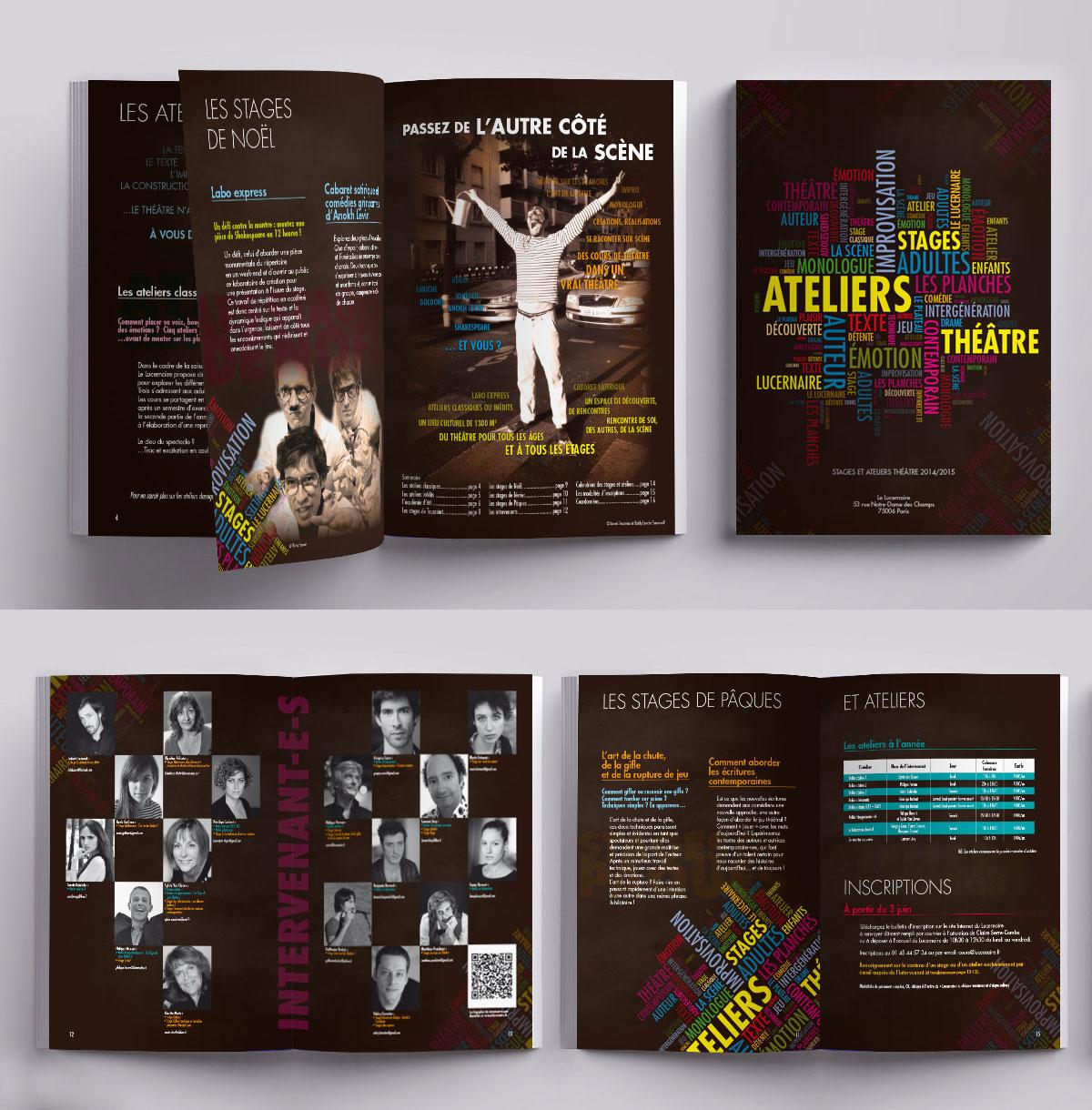Infographiste indépendant, création et  mise en page de brochure ateliers théâtre