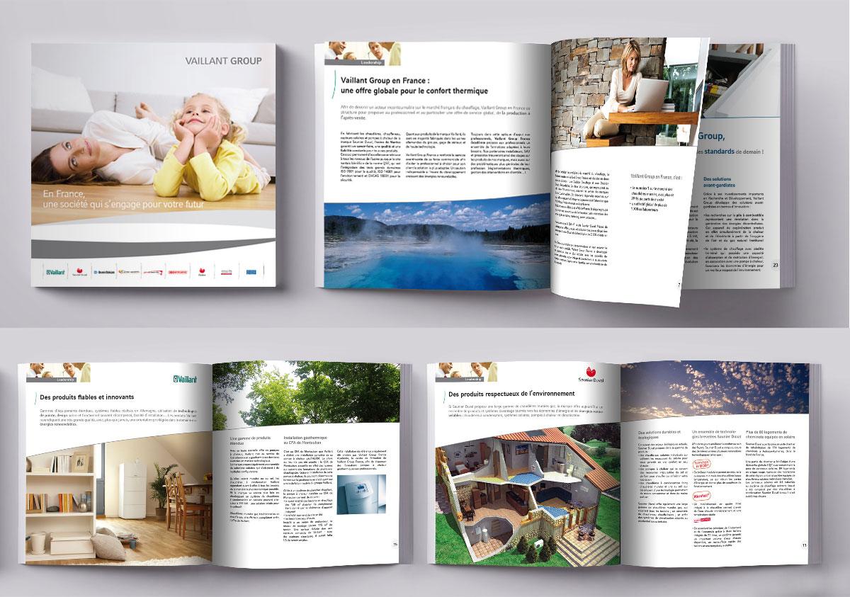 Infographiste indépendant, création et  mise en page de brochures sur le chauffage
