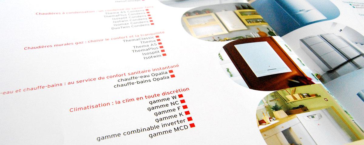Infographiste indépendant, création et  mise en page de brochure dossier de presse chaudière