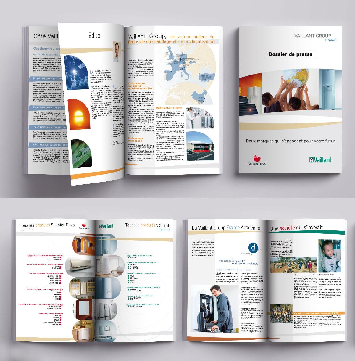 Infographiste indépendant, création et  mise en page de brochure dossier de presse chauffage