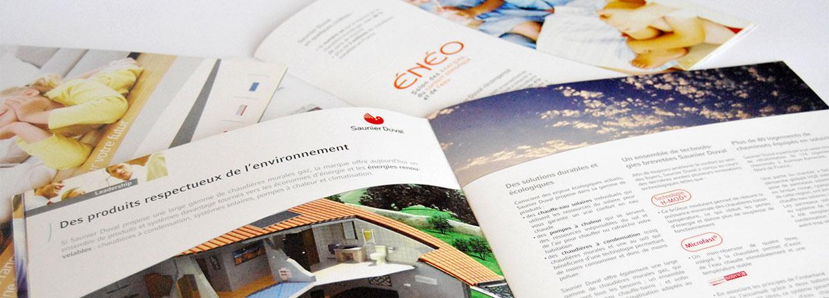 Infographiste indépendant, création et  mise en page de brochures sur l'énergie