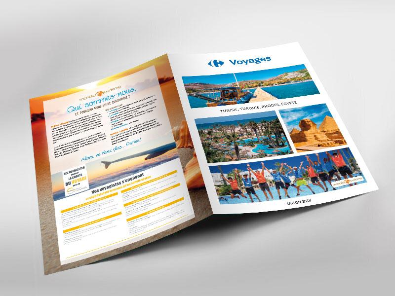 Infographiste indépendant, création et  mise en page de brochure vacances voyages tourisme