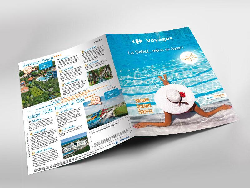 Infographiste indépendant, création et  mise en page de brochure voyages vacances tourisme