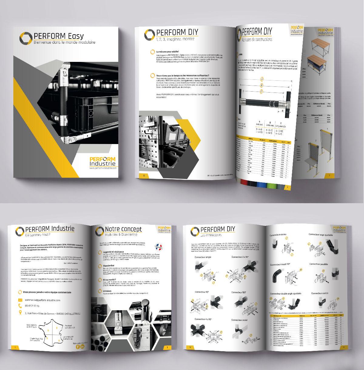 Infographiste indépendant, création et mise en page de catalogues de produits techniques