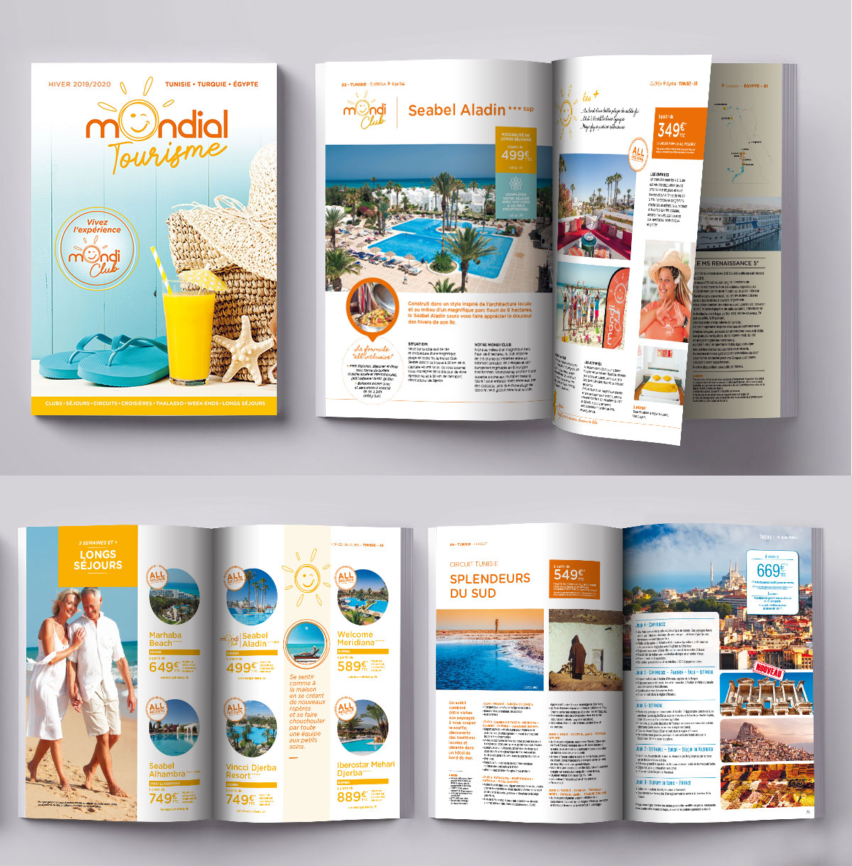 Infographiste indépendant, création et mise en page de catalogues tourisme