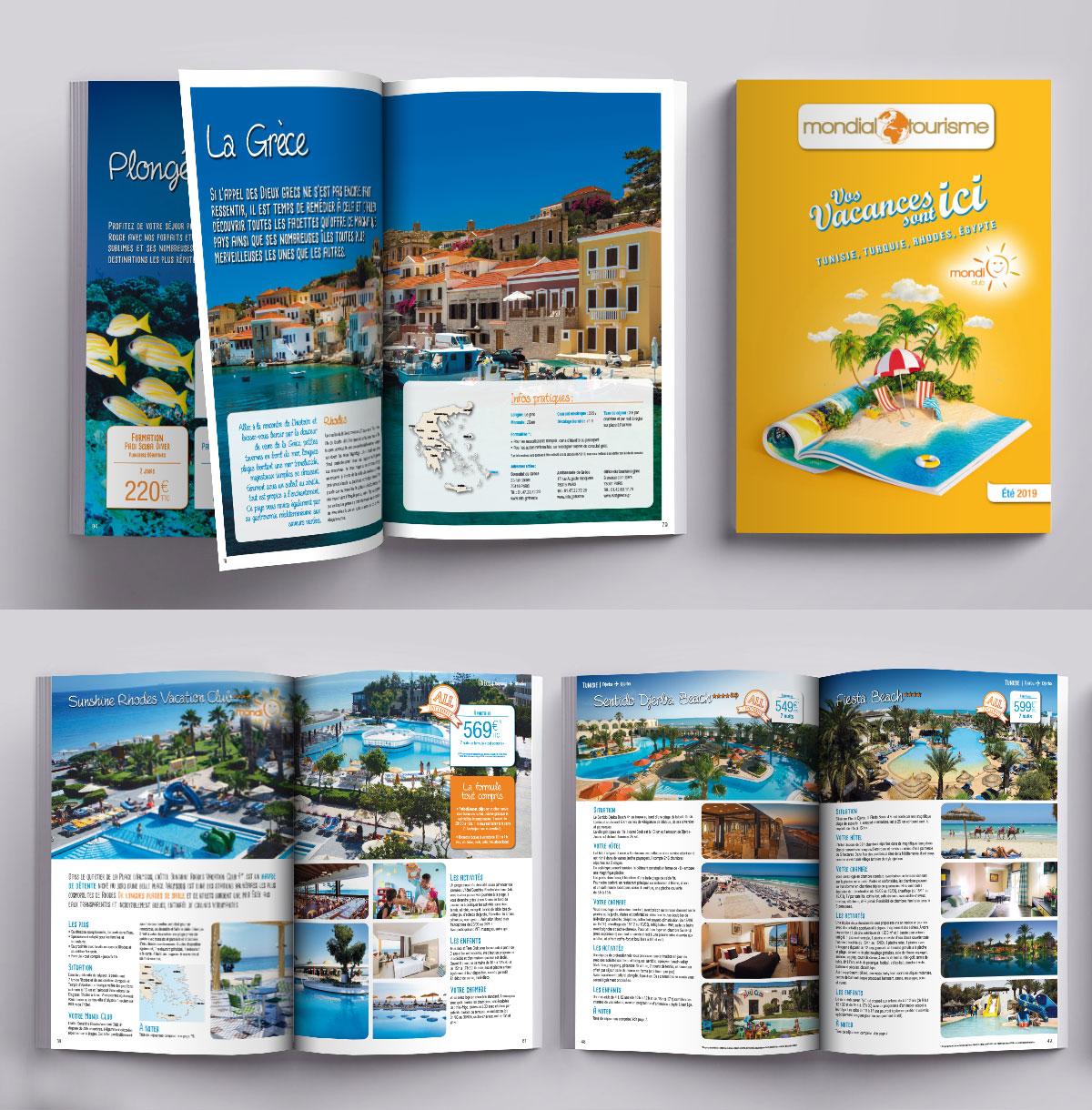 Infographiste indépendant, création et mise en page de catalogues de voyages