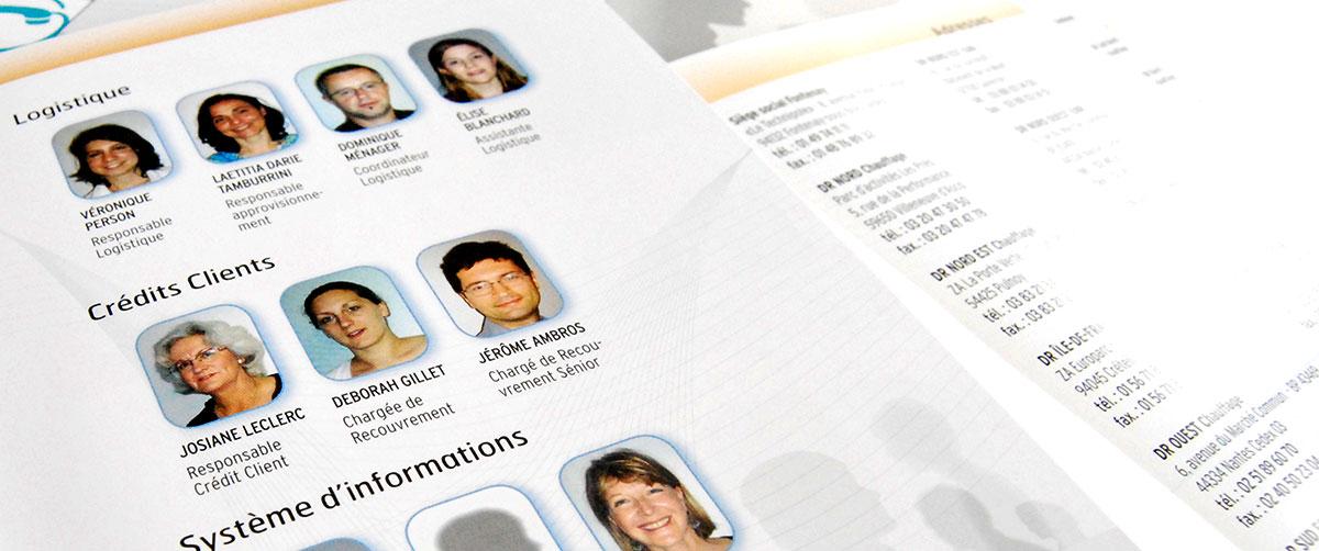 Infographiste indépendant, création et mise en page communication annuaire trombinoscope