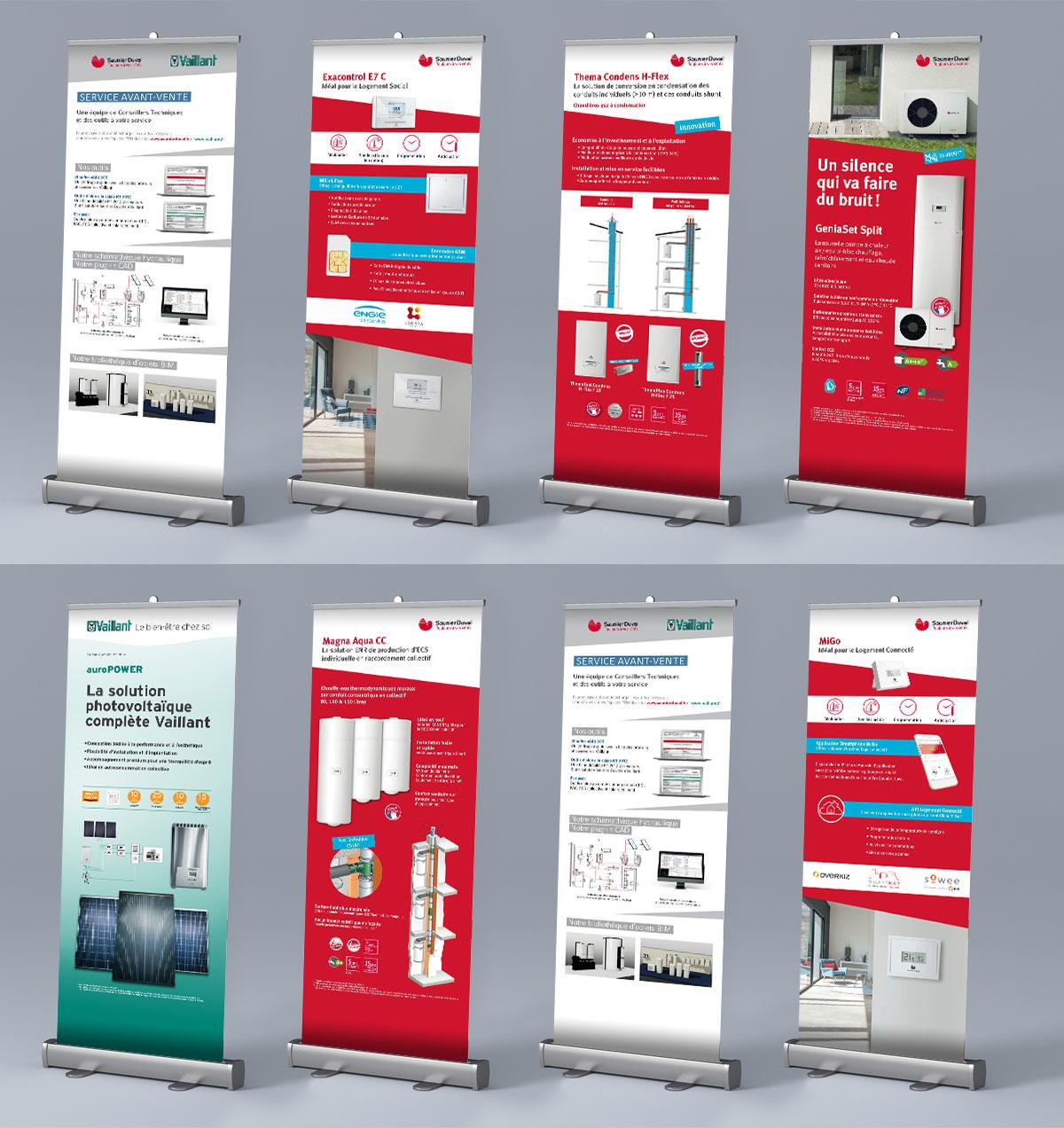 Infographiste indépendant, création et mise en page de supports de communication : Roll up, PLV, Kakemono chaudière