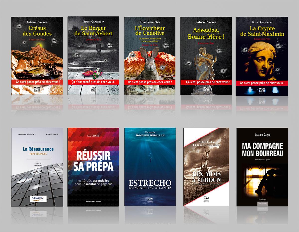 Infographiste indépendant, création et  mise en page de couvertures de livres, romans policier