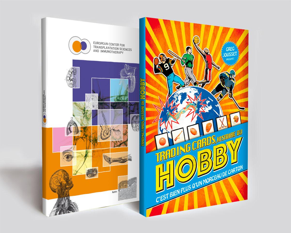 Infographiste indépendant, création et  mise en page de couvertures de livres de science et d'histoire