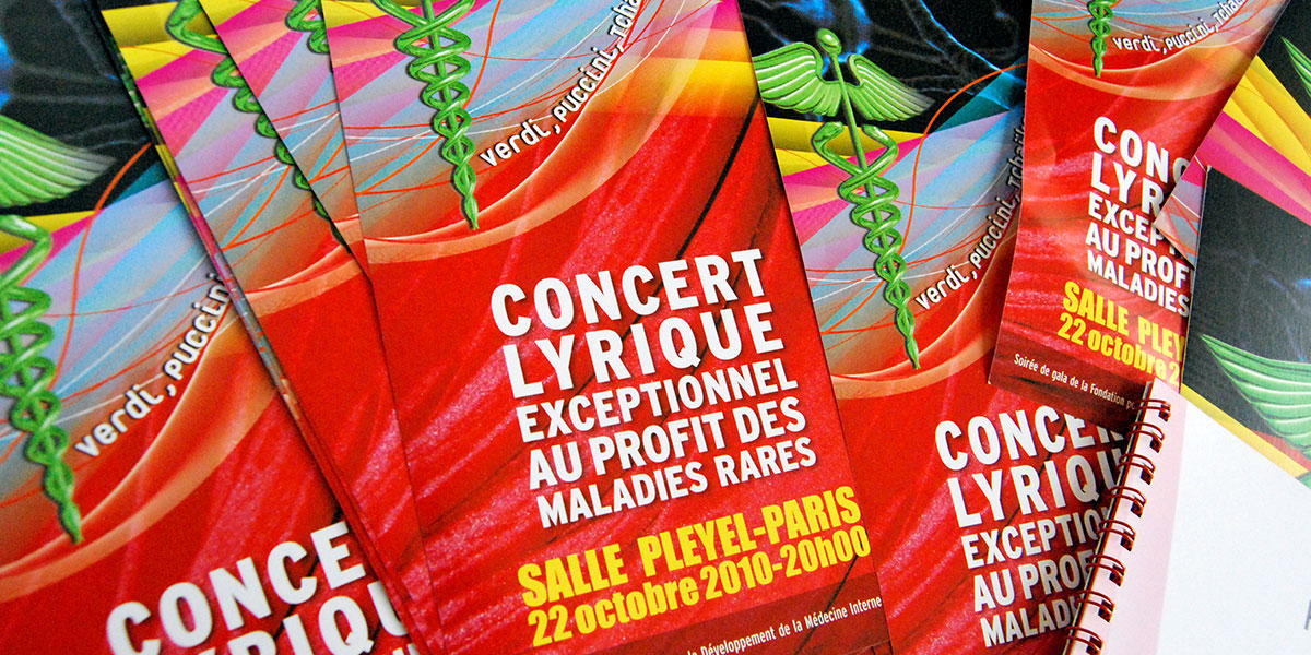 Infographiste indépendant, création et mise en page de flyers concert opéra lyrique
