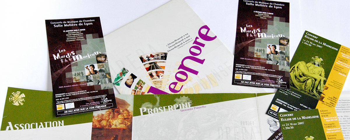Infographiste indépendant, création et mise en page de flyers spectacle musique