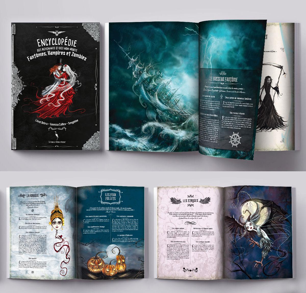 Infographiste indépendant, création et mise en page de livres encyclopédies jeunesse sur les fantômes