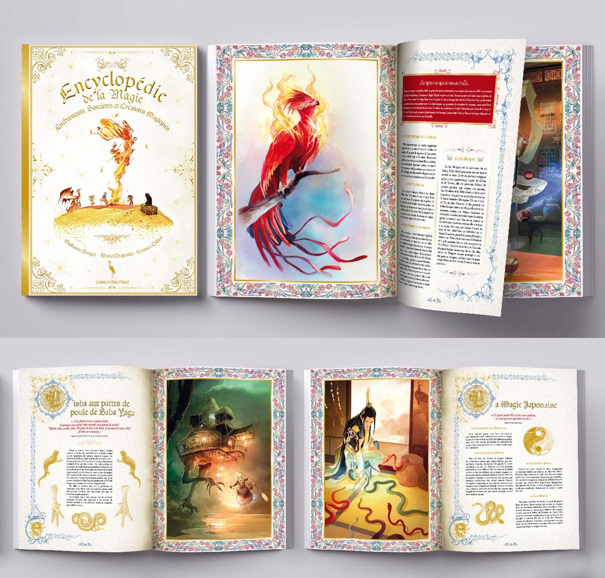 Infographiste indépendant, création et mise en page de livres encyclopédies jeunsse sur la Magie