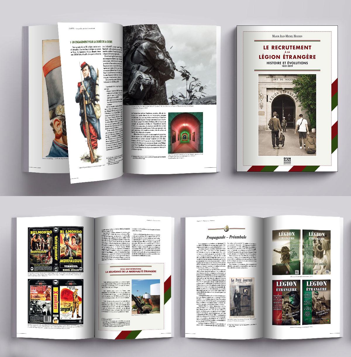 Création et mise en page de livres d'histoire sur la Légion Étrangère