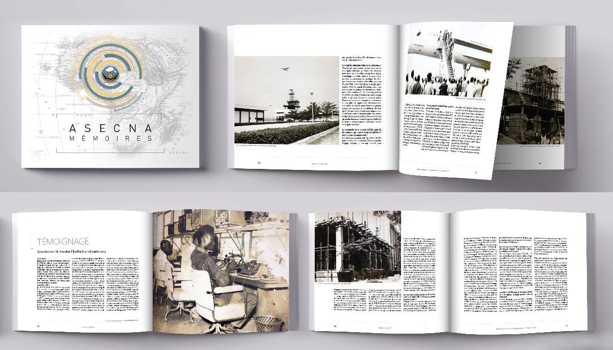 Création et mise en page de livres d'histoire, mémoires
