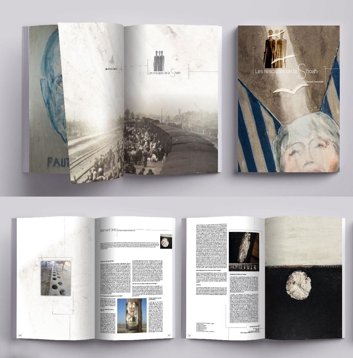 Création et mise en page de livres d'histoire sur les rescapés de la Shoah
