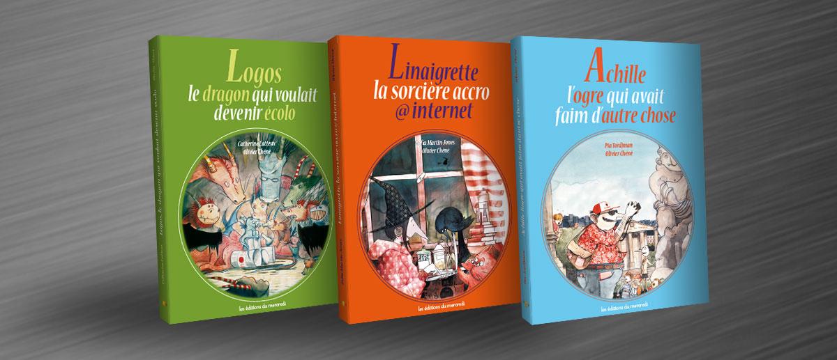Infographiste indépendant, création et mise en page de livres jeunesse sur les contes
