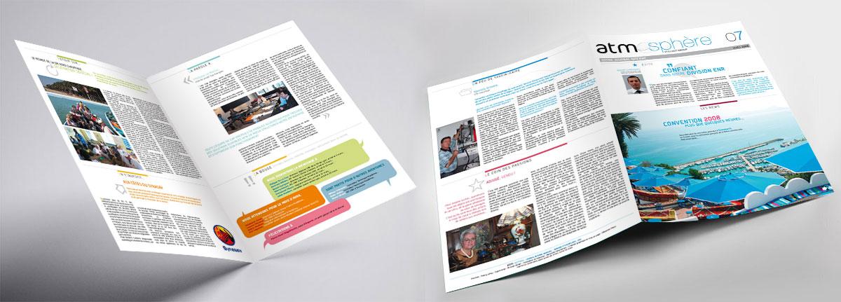 Infographiste indépendant, création et  mise en page de magazines d'entreprise