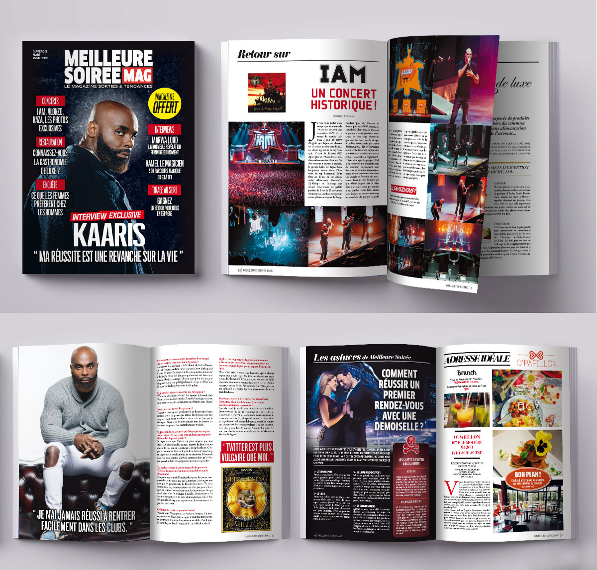 Infographiste indépendant, création et  mise en page de magazines de musique